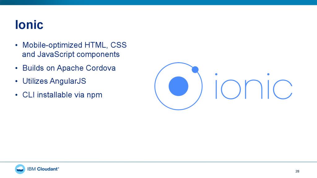 Ionic • Mobile-optimized HTML, CSS and JavaScr...