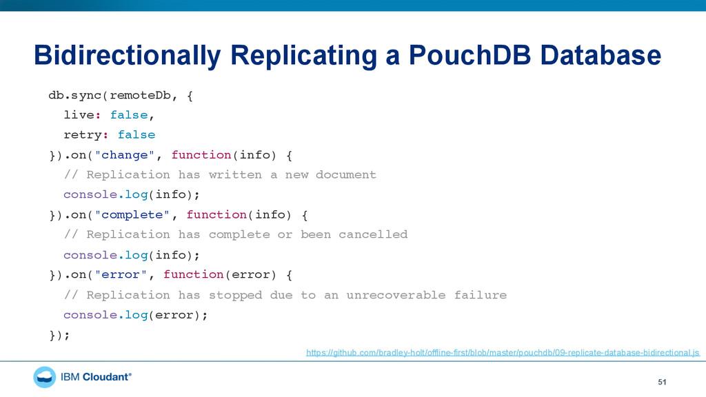 Bidirectionally Replicating a PouchDB Database ...