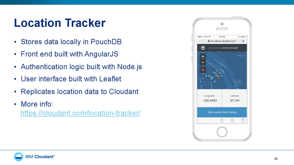 Location Tracker • Stores data locally in Pouc...