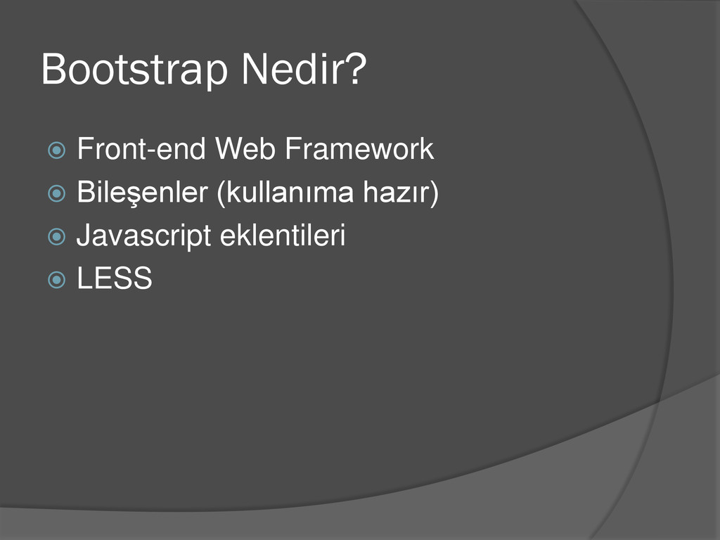 Bootstrap Nedir?  Front-end Web Framework  Bi...