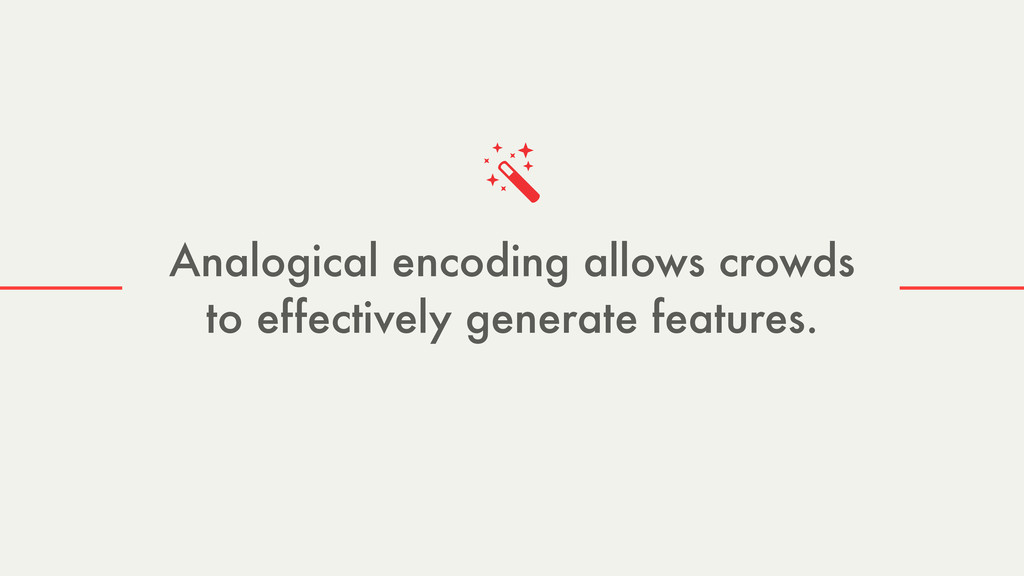 Analogical encoding allows crowds to effectivel...