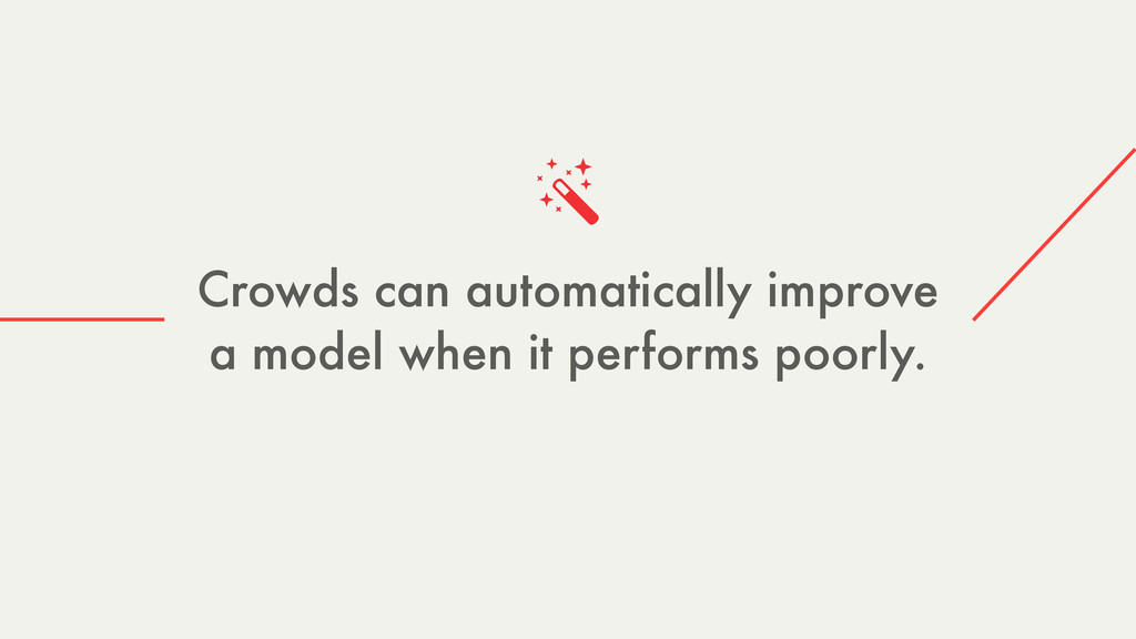 Crowds can automatically improve a model when i...