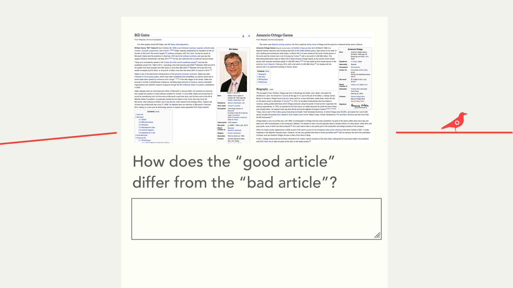 """How does the """"good article"""" differ from the """"ba..."""