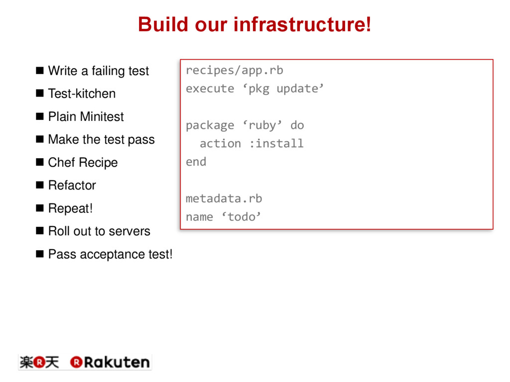 Build our infrastructure! recipes/app.rb execut...
