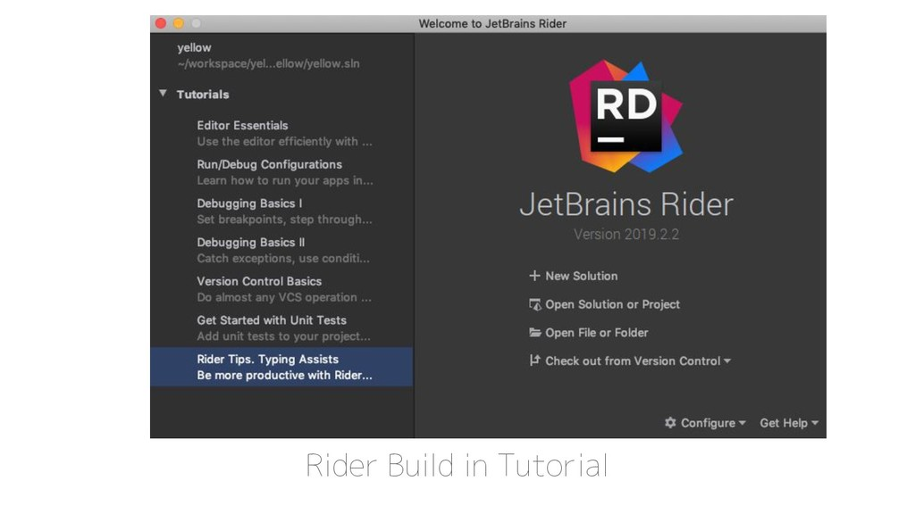 Rider Build in Tutorial