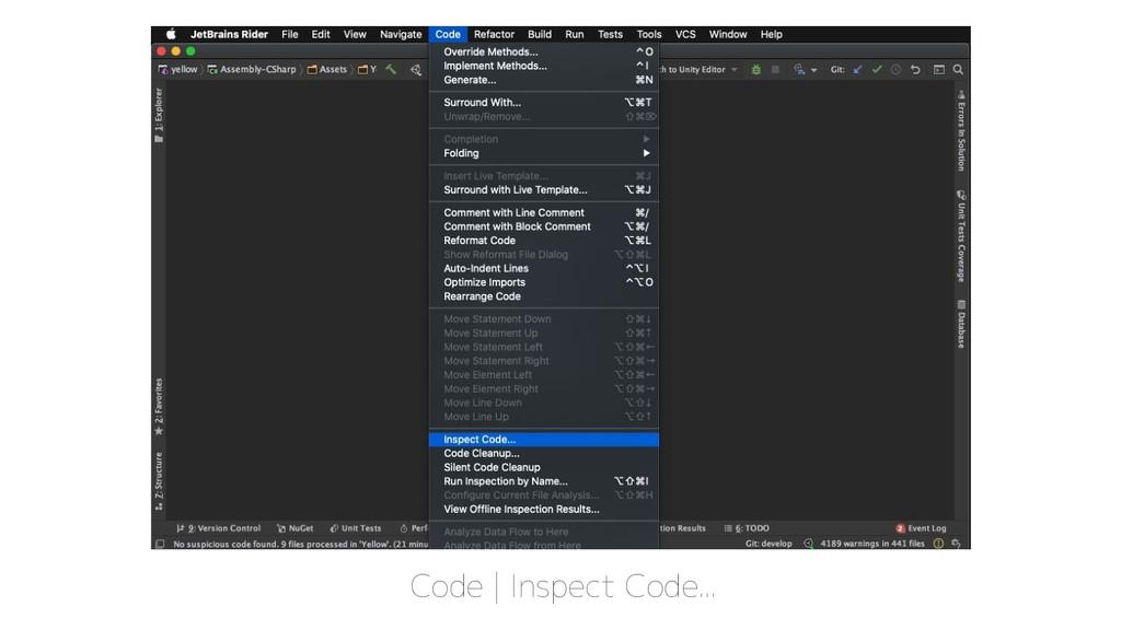 Code | Inspect Code...