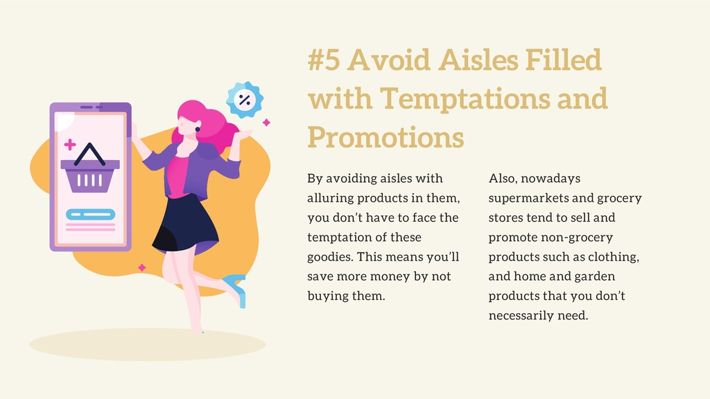 #5 Avoid Aisles Filled with Temptations and Pro...
