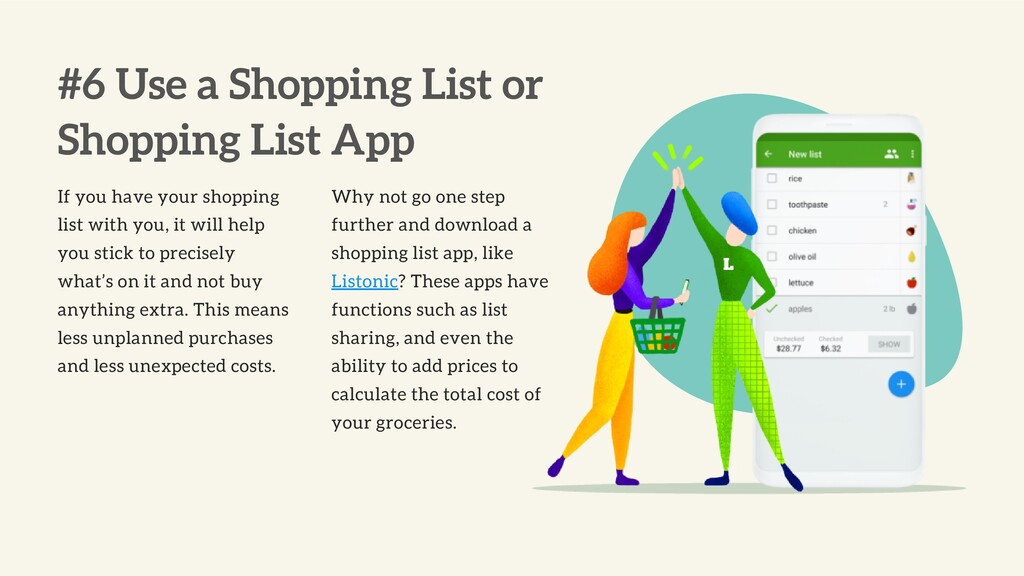 #6 Use a Shopping List or Shopping List App If ...