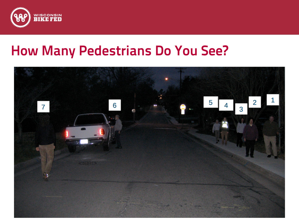 How Many Pedestrians Do You See?