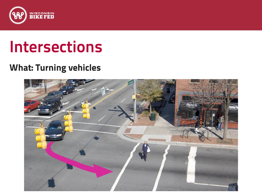 Intersections What: Turning vehicles