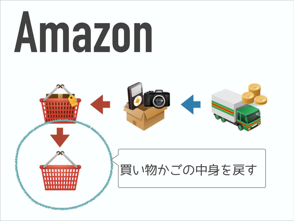 Amazon 買い物かごの中身を戻す