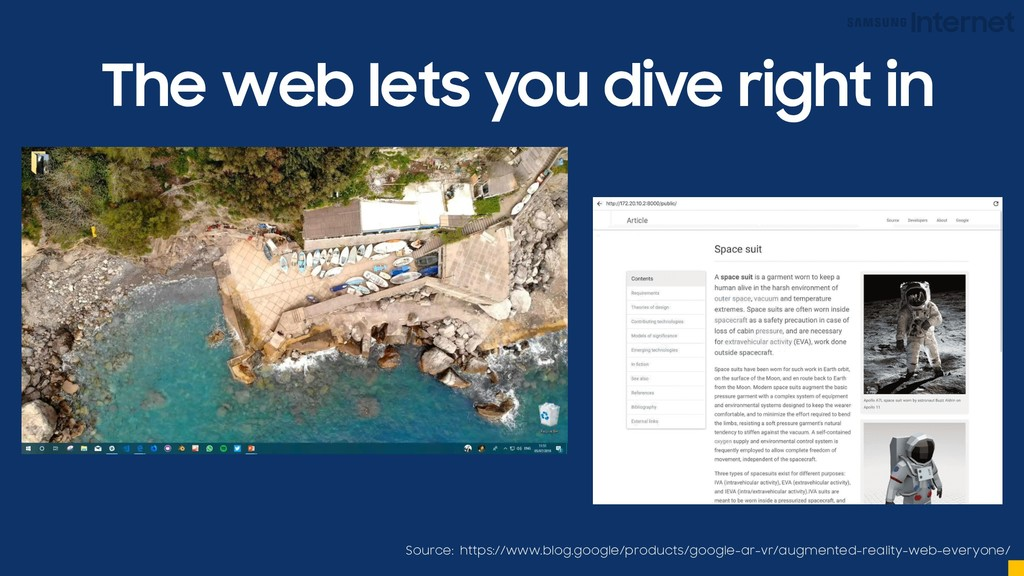The web lets you dive right in Source: https://...