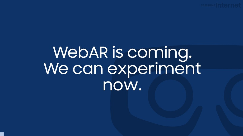 WebAR is coming. We can experiment now.