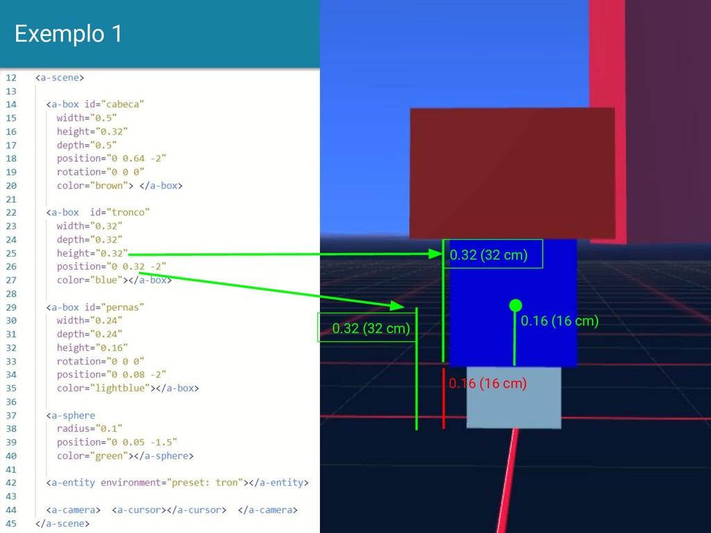 Exemplo 1 14 0.16 (16 cm) 0.32 (32 cm) 0.16 (16...