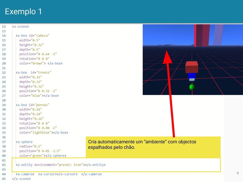 """Exemplo 1 9 Cria automaticamente um """"ambiente"""" ..."""