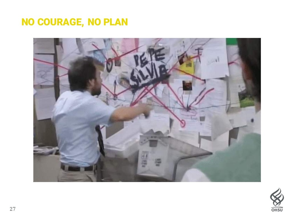 27 NO COURAGE, NO PLAN