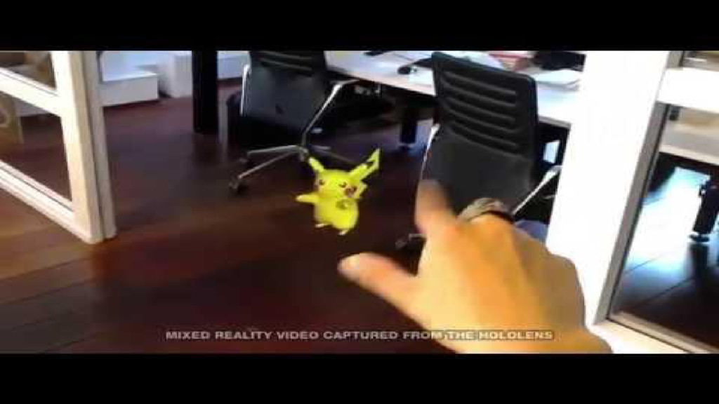 HoloLens demo video: Pokemon