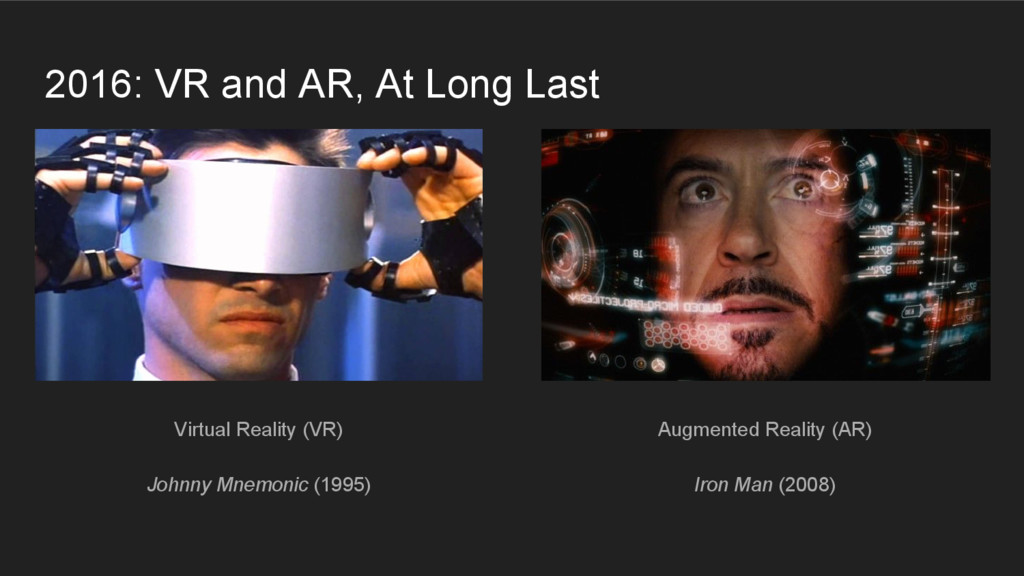 2016: VR and AR, At Long Last Virtual Reality (...