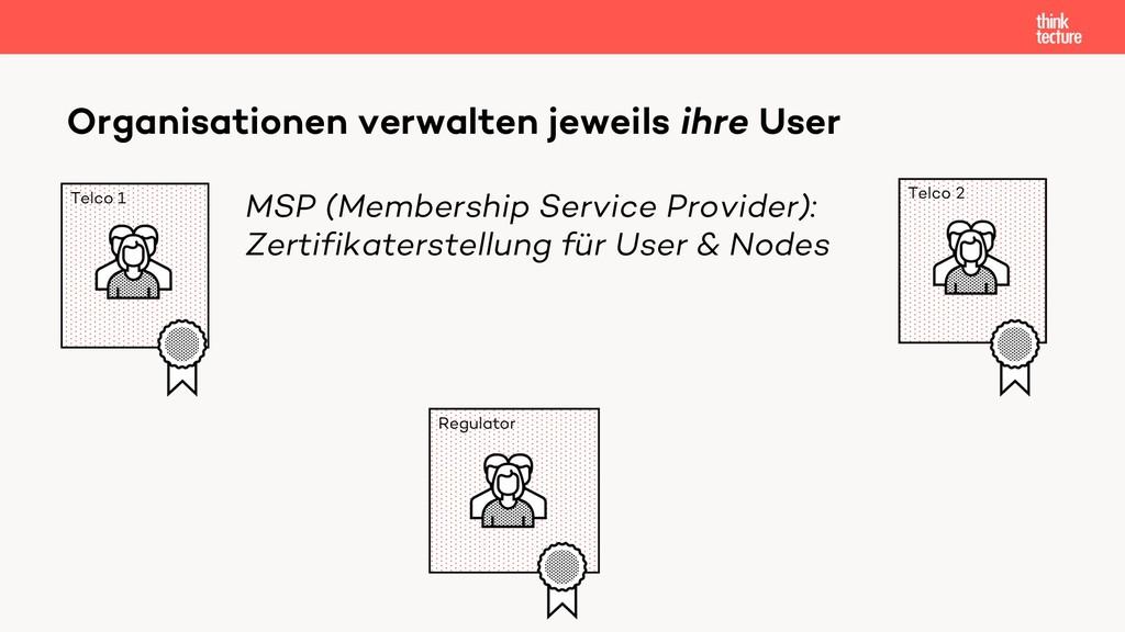 Organisationen verwalten jeweils ihre User Telc...