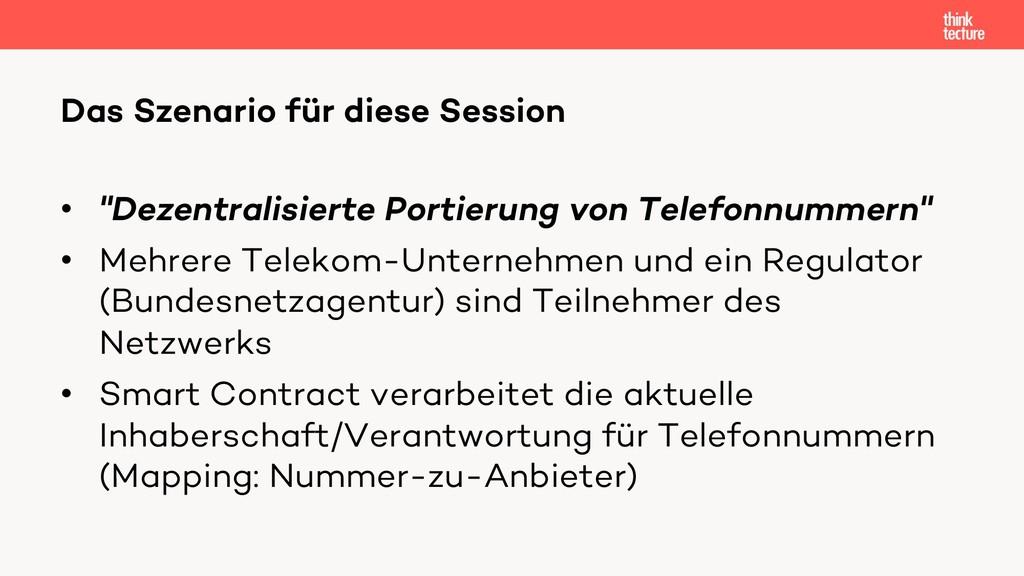"""• """"Dezentralisierte Portierung von Telefonnumme..."""