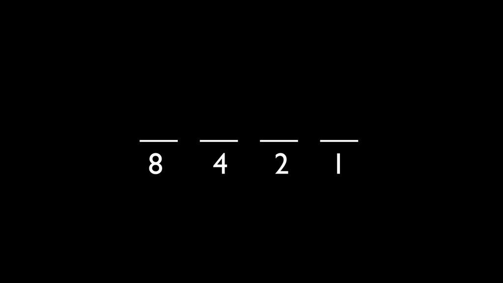 __ __ __ __ 8 4 2 1