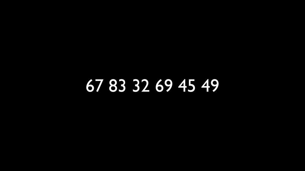 67 83 32 69 45 49
