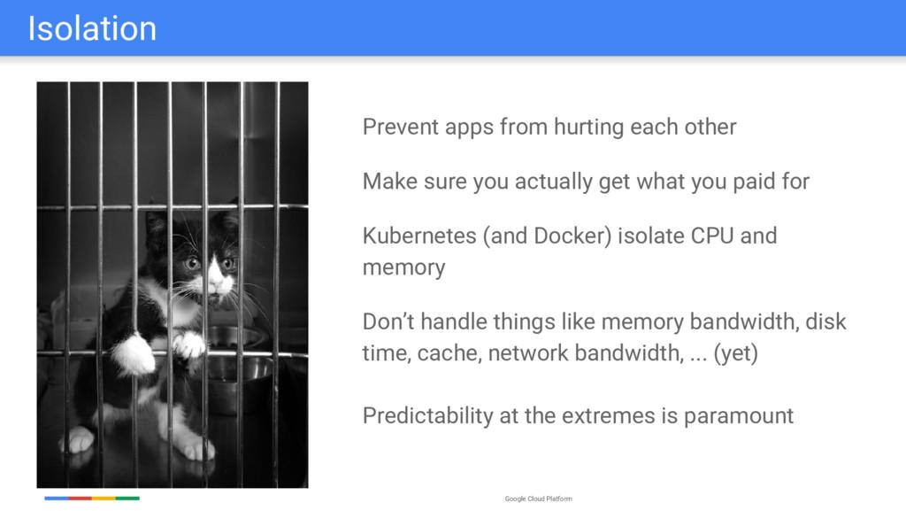 Google Cloud Platform Isolation Prevent apps fr...