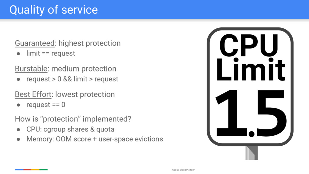 Google Cloud Platform Quality of service Guaran...