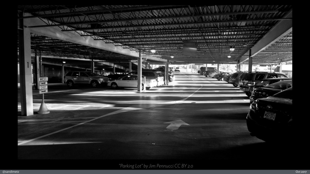 "@sandimetz Oct 2017 ""Parking Lot"" by Jim Pennuc..."