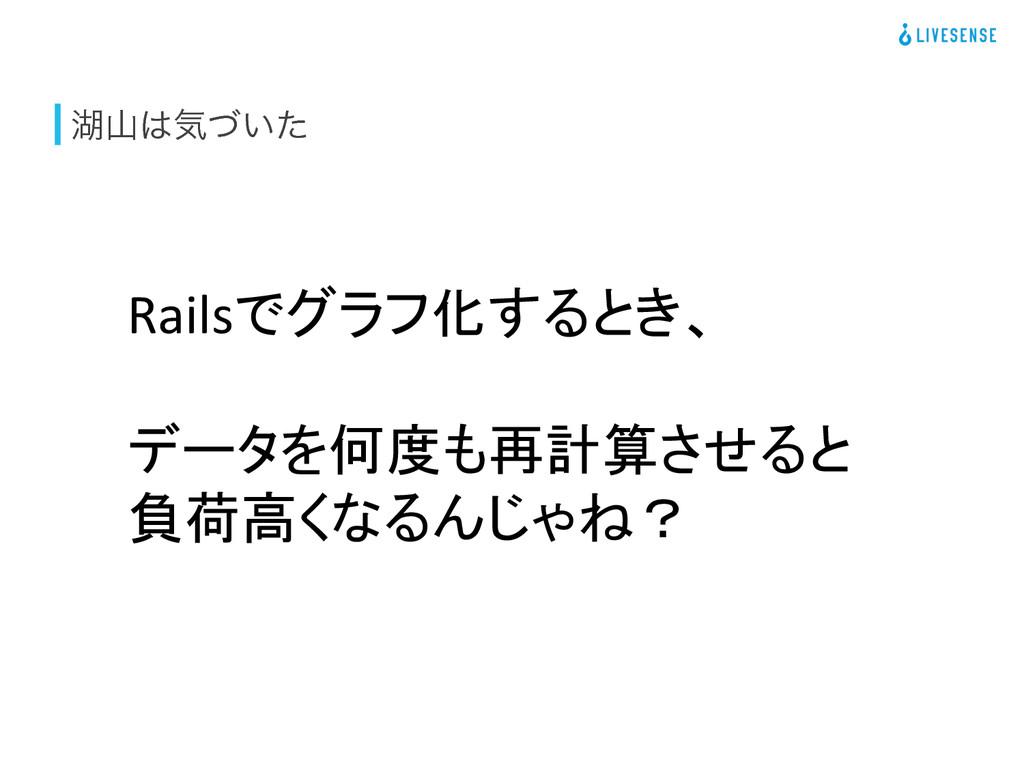 ބؾ͍ͮͨ Railsでグラフ化するとき、    データを何度も再計算させると...