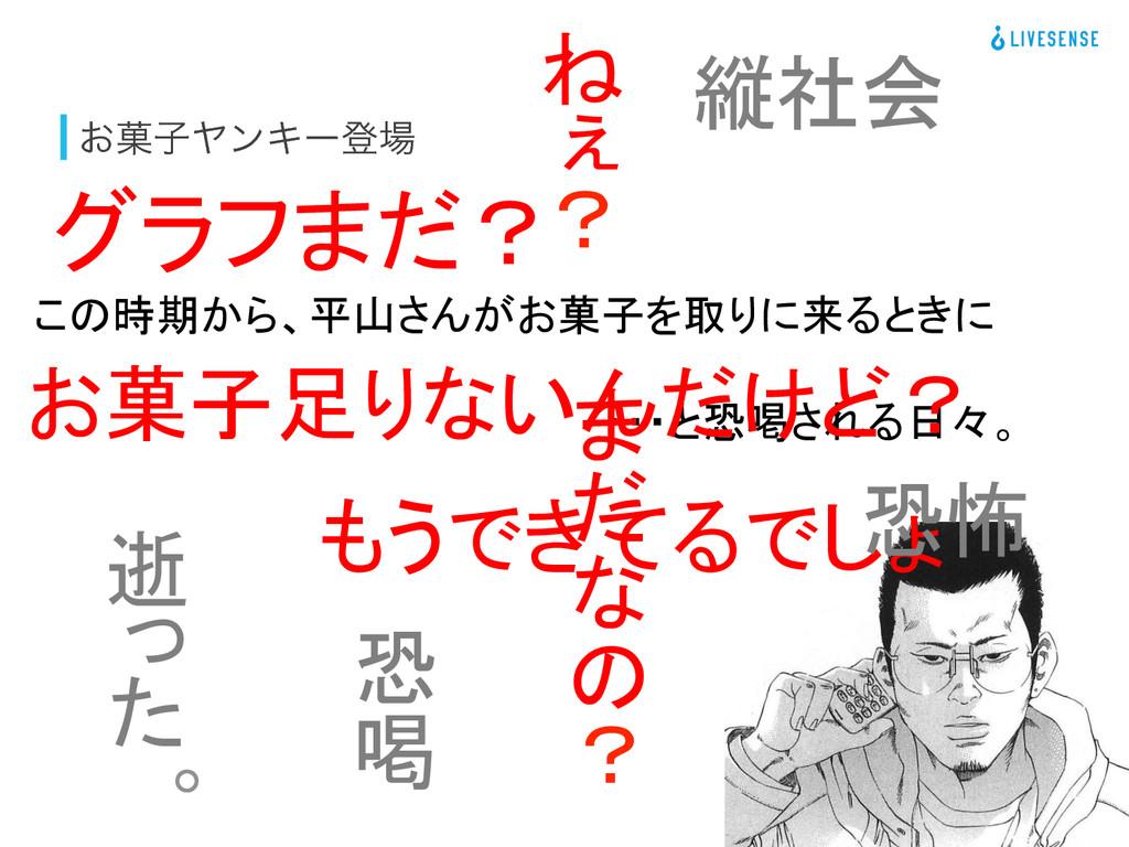 ͓՛ࢠϠϯΩʔొ この時期から、平山さんがお菓子を取りに来るときに  グラフまだ?...
