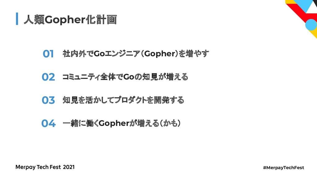 #MerpayTechFest 人類Gopher化計画 社内外でGoエンジニア(Gopher)...