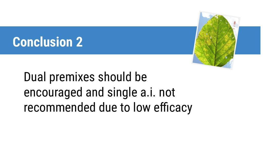 Dual premixes should be encouraged and single a...