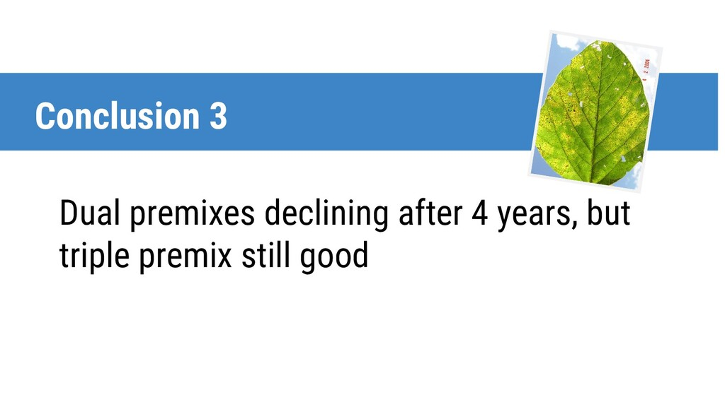 Dual premixes declining after 4 years, but trip...