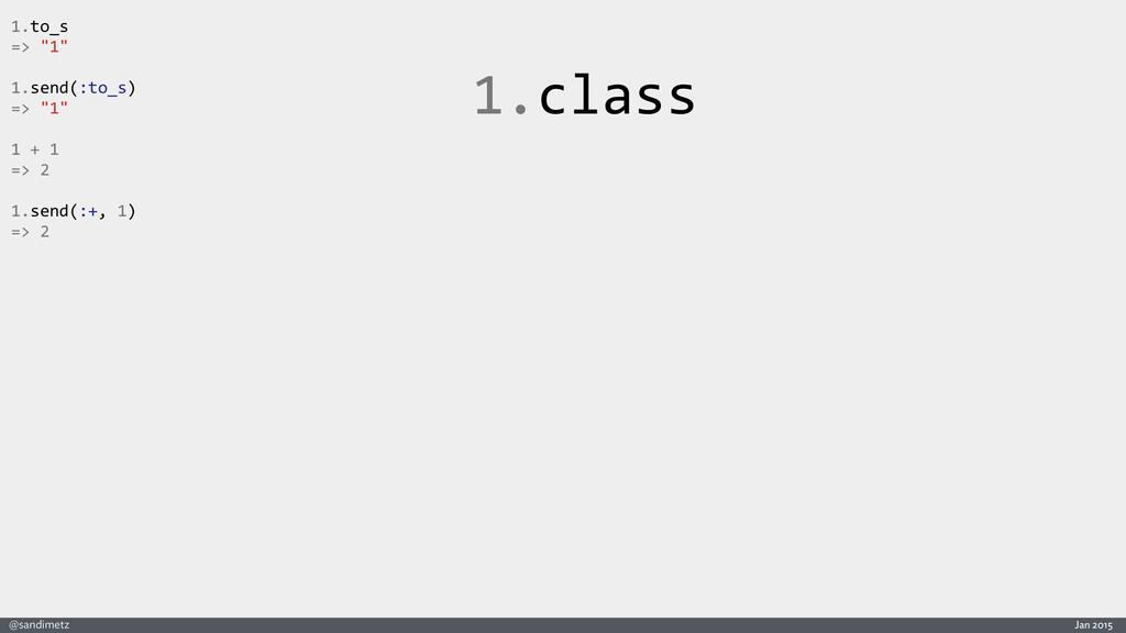 "Jan 2015 @sandimetz 1.class 1.to_s  => ""1..."