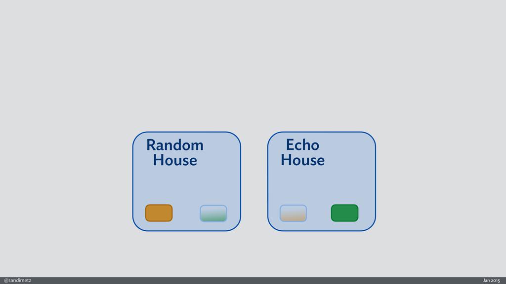 Jan 2015 @sandimetz Echo House Random House Ran...