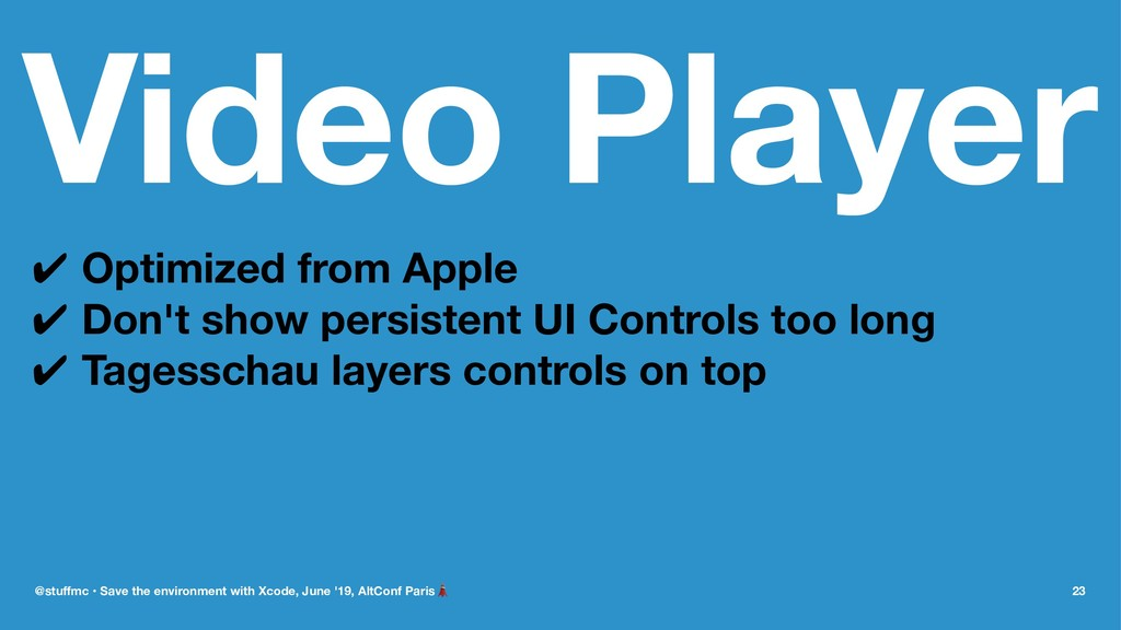 Video Player ✔ Optimized from Apple ✔ Don't sho...