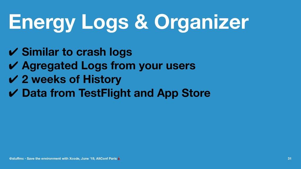 Energy Logs & Organizer ✔ Similar to crash logs...
