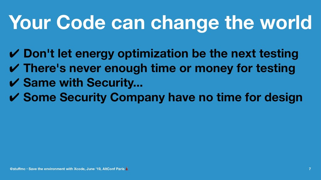 Your Code can change the world ✔ Don't let ener...