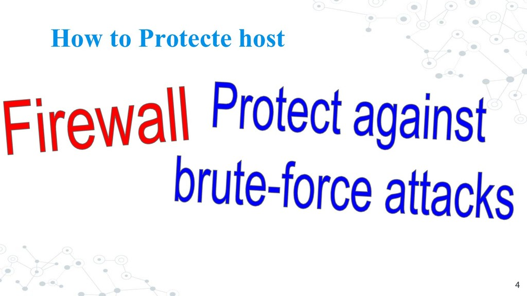 How to Protecte host 4