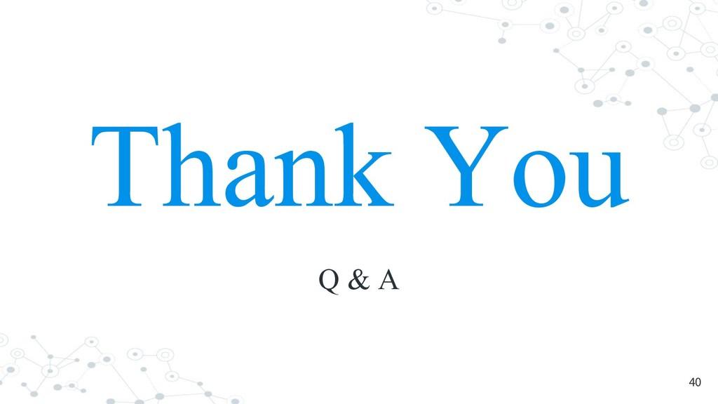 Thank You Q & A 40