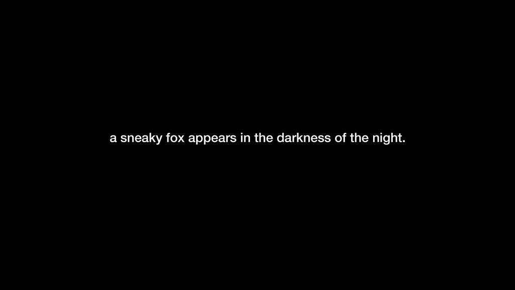 -Gilles Allain a sneaky fox appears in the dark...