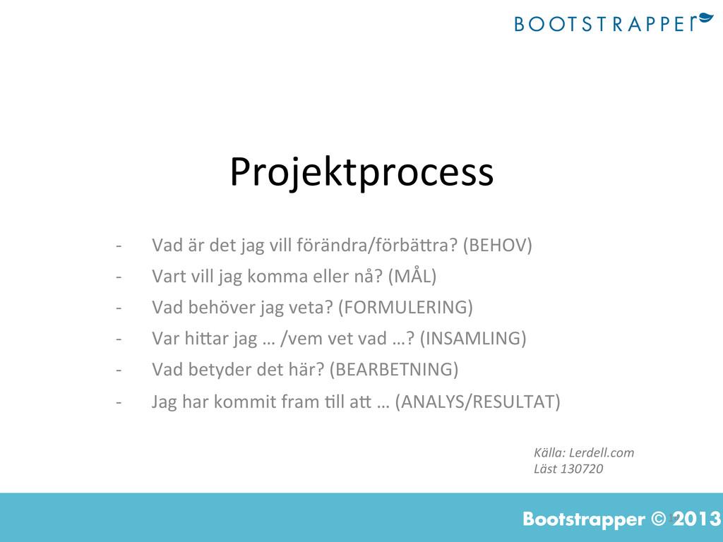 14  Bootstrapper © 2013 Projektprocess  -...