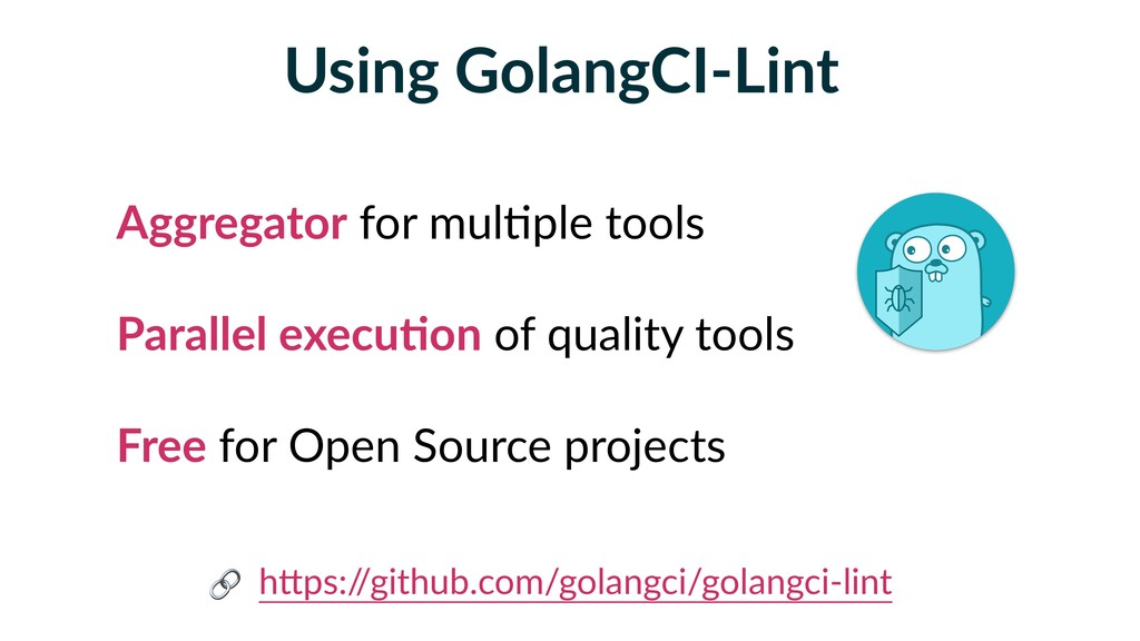 Using GolangCI-Lint Aggregator for mul5ple tool...