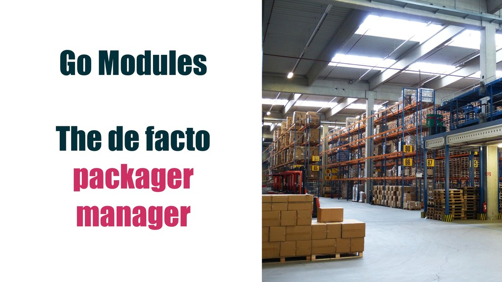 Go Modules The de facto packager manager
