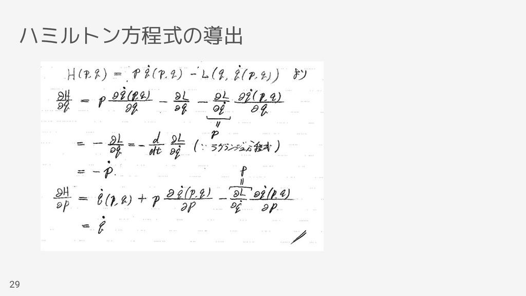 ハミルトン方程式の導出 29