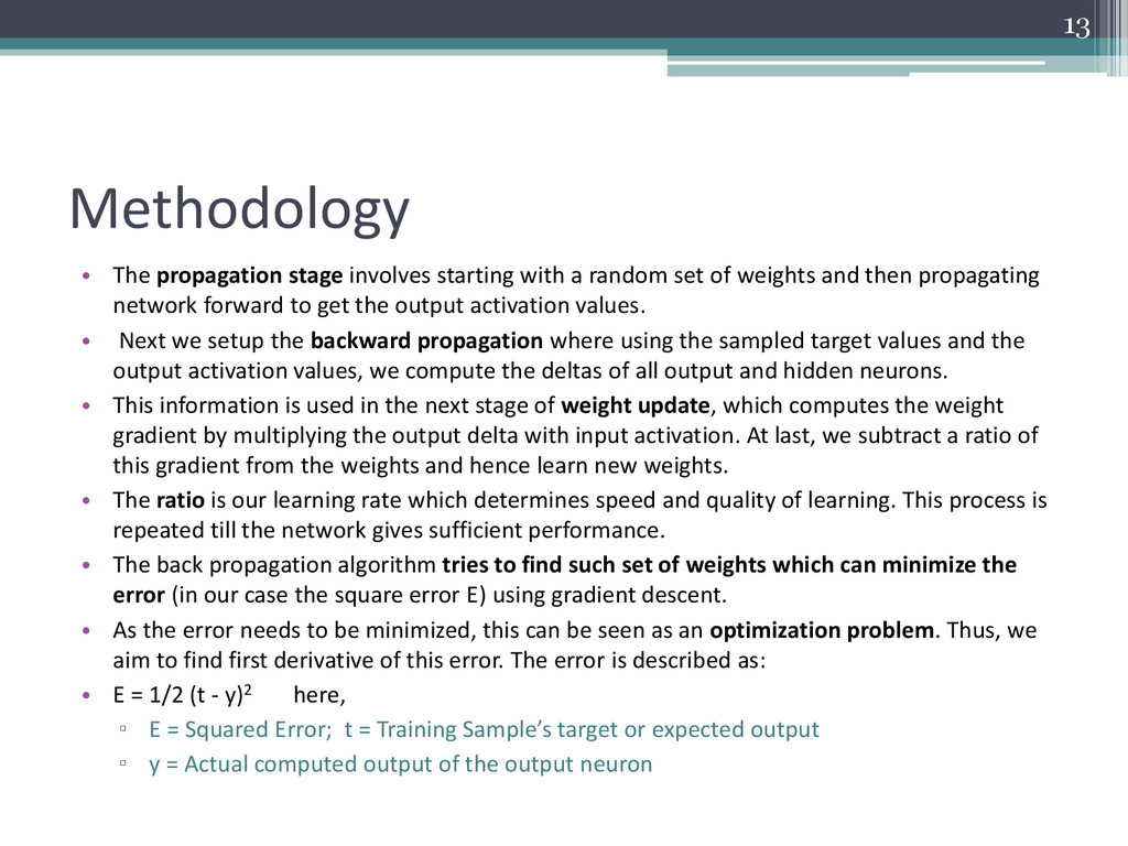 Methodology • The propagation stage involves st...
