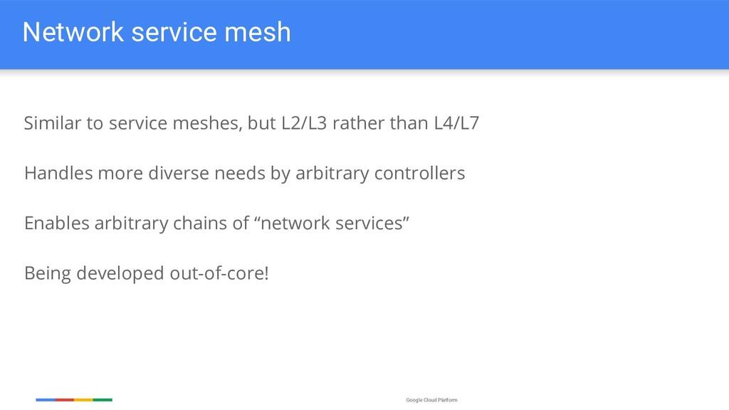 Google Cloud Platform Network service mesh Simi...