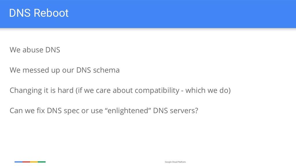 Google Cloud Platform DNS Reboot We abuse DNS W...