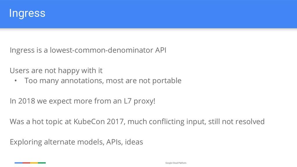 Google Cloud Platform Ingress Ingress is a lowe...